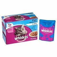 Whiskas 1+ Cat Pouch Fish Selection in Jelly (12Pk) - 19267