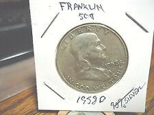 1958 D Franklin Half Dollar -90% Silver