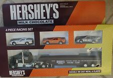 Vintage 1979 RARE Hartoy Hershey's 4 Piece Racing Set with Car Carrier MIB