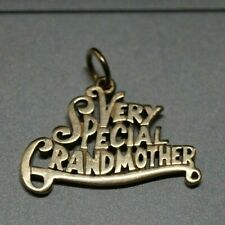 "James Avery ""Very Special Grandmother"" Charm 14k Yellow Gold"