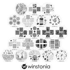 Winstonia Nail Art Stamping Plates Set Stamp Manicure 4TH GEN Template Disc Gel