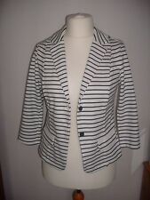 Ladies girls NEW white blazer jacket stripe jacket size 10 tags attached