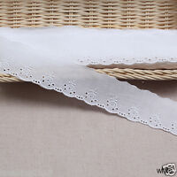 """14Yds Broderie Anglaise eyelet cotton lace trim 1.8""""(4.5cm) yh1154 laceking2013"""