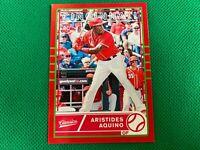 2020 Classics Red #3 Aristides Aquino RC Rookie 051/100 Cincinnati Reds