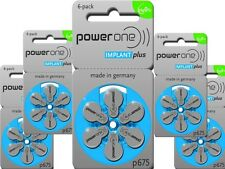12 X Power One P675 implantes Plus cinc Air coclear Baterías 2 paquetes de 6