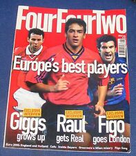 FOURFOURTWO MAGAZINE AUGUST 2000 - EUROPE'S BEST PLAYERS - GIGGS - RAUL - FIGO