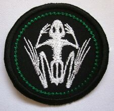 "Frog Bones Merit Badge Mini 2"" Iron or Sew On Patch"