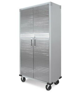 "Heavy Duty 72"" Tall Metal Storage Rolling File Tool Cabinet Locking Doors"