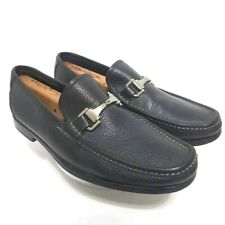 ALLEN EDMONDS Firenze Men Horsebit Loafers Shoes Black Leather Slip-On Italy 11