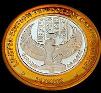 .999 $10 Silver Strike•Luxor Casino •Vegas• Isis • Millennium Edition, Year 2000