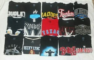 Lot of 15 WWE Wrestling Shirts Most XL and Black T Shirts Authentic