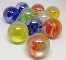 VENTE!!! 10 x 16 mm Mixed Cat's eyes Glass Marbles collectionneurs ou jeu traditionnel