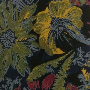 Black Yellow Floral Silk DIOR Tie