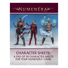Numenera RPG: Character Sheers by Monte Cooke Games MKG054 (50 sheets)