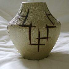 Scheurich 543 20 modernist West GERMAN GRAFFITO design art pottery vase