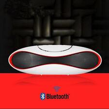Portable FM Speaker Tablet Laptop Wireless Bluetooth Stereo White For Smartphone