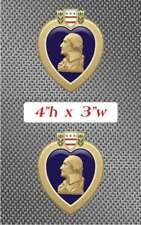 2x Purple Heart Sticker Decal graphic Vinyl military decoration US