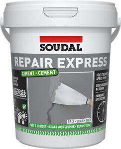 Soudal Repair Mortar Cement Ready Mix Brick Pointing Crack Gap Filler Grey 900ml