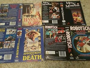SLEEVE BUNDLE 5 CANNON SEE PICTURES - VHS - BIG BOX - EX RENTAL