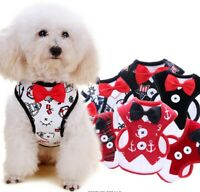 Small Dog Chest Strap Like Bow Evening Dress Vest-type Leash for Teddy 3 Sizes