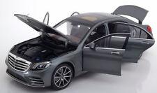 Iscale 2017 Mercedes Benz S Klasse V222 MOPF Grey Metallic Dealer Ed 1/18 New!