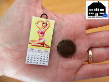Miniature Calendar 1954. Vintage pin-up girls. Scale 1:12 CAN