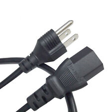 10 x US Universal 3 Prong Power Cord Cable fr Desktop Printers Monitors Computer