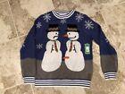 Brand New tipsy elves Naughty Snowman Ugly christmas sweater Men's Medium M