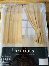 🤗Beautiful Gold&Cream Jaquardy Lined Curtains.NWT 🤗