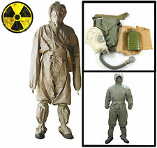 NBC SET CHEMICAL RADIATION HAZMAT MILITARY SUIT + GAS1 MASK FALLOUT DOSIMETER