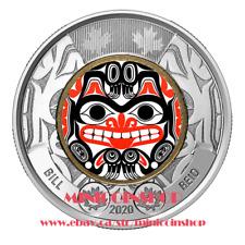 Canada 2020 Bill Reid Coloured $2 Dollar Toonie Coin Haida Grizzly Bear BU