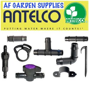 Antelco 13mm Tee Elbow End Plug Pipe Fittings Connectors Irrigation Pipe Garden