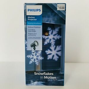 Philips Motion Projector - Rotating Snowflakes COOL WHITE/SUPER BRIGHT *DM*