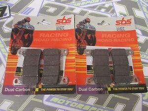 SBS Dual Carbon Racing Track Front Brake Pads for Suzuki GSXR1000 GSXR 2004-2011