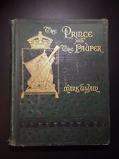The Prince and the Pauper, Mark Twain, 1889, Illustrated, Scarce