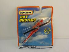 Vintage Matchbox Diecast Red Rescue Helicopter in the Blister Pack
