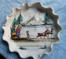 Christmas 1973 Plate~by Fontana~Creative World~Handcrafted in Italy~3D Effects~