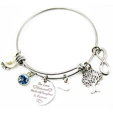 Love Bracelet The Love Between Mother & Daughter is Forever Gift for Her