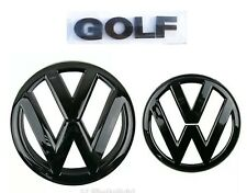 Golf MK6 black glossy front and rear badges With GOLF lettering