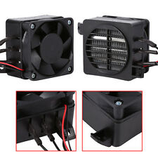 100W 12V PTC Heater Fan Air Heater Constant Temperature Thermistor Insulation