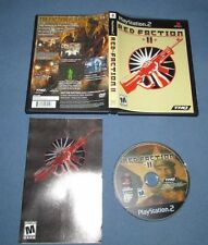 Red Faction II (Sony PlayStation 2, 2002) RARE COMPLETE