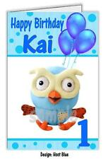 Personalised Birthday Card - Hoot from Giggle and Hoot Print - Any name and Age