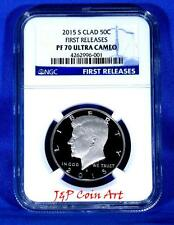 2015 S CLAD Kennedy Half Dollar First Releases NGC PF70 Ultra Cameo Blue Label
