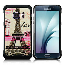 For Samsung Galaxy S7 - HARD HYBRID IMPACT ARMOR CASE COVER PARIS EIFFEL TOWER