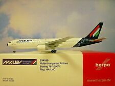Herpa Wings 1:500 Boeing 767-300 Malev Airlines Ha-Lhc 534185 Modellairport500