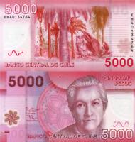 CHILE, 5000 Pesos, 2014, P163c, POLYMER, UNC