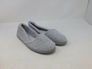 Dearfoam Women's Gray Slippers Size 9-10 US