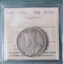 Key Date 1914 Canadian 50 Cent ICCS F-12 Trends $120