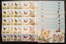 AJMAN 1972, BIRDS & BUTTERFLIES, 10 SETS & 10 SOUVENIR SHEETS, FREE SHIPPING!!!