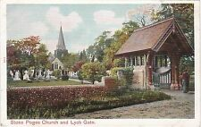 Chromo Litho View, The Church & Lych Gate, STOKE POGES, Buckinghamshire